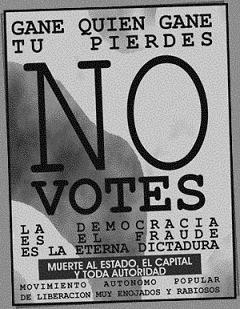 EN ESTA SEGUNDA VUELTA  - NO VOTES