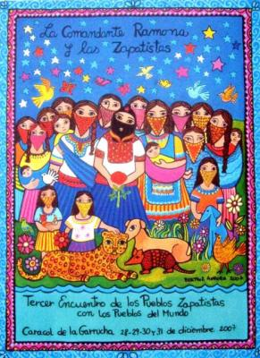 """Tercer encuentro de los pueblos zapatistas con los pueblos del mundo: """"La comandanta Ramona y las zapatistas"""""""